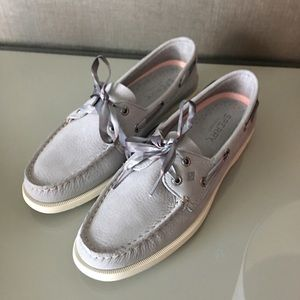 New Sperry Woman's Top Slider Leather Grey 8.5
